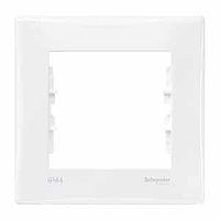 SDN5810121. Рамка 1-постовая выключатель-IP44, розетка-IP20. Белая. Sedna