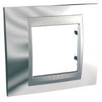 MGU66.002.010. Рамка 1-постовая. «Блестящий хром», Алюминий Unica Top