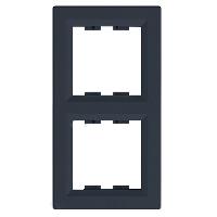EPH5810271. Рамка Двухпостовая, Вертикальная. Антрацит. Asfora plus