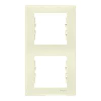 SDN5801123. Рамка 2-постовая. Вертикальная. Слоновая кость. Sedna