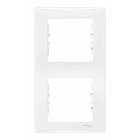 SDN5801121. Рамка 2-постовая. Вертикальная. Белая. Sedna