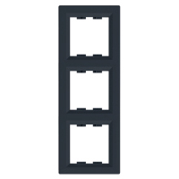 EPH5810371. Рамка Трехпостовая, Вертикальная. Антрацит. Asfora plus