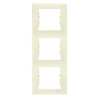 SDN5801323. Рамка 3-постовая. Вертикальная. Слоновая кость. Sedna