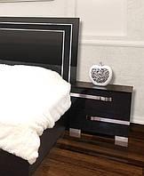 Тумба прикроватная Экстаза черный лак (Світ Меблів ТМ)