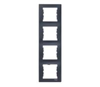 SDN5802070. Рамка 4-постовая. Вертикальная. Графит. Sedna