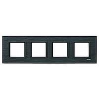 MGU68.008.7Z1. Рамка 4-постовая, Черный камень. Unica Class