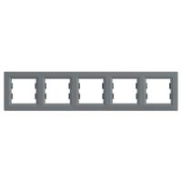 EPH5800562. Рамка Пятипостовая, Горизонтальная. Сталь. Asfora plus