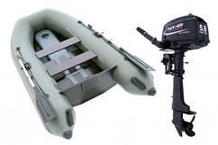 Комплект лодка Parsun 3м узкий привальник + мотор T5.8