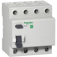 EZ9R34463. Дифференциальный выключатель нагрузки. 4Р- 0,03А- 63А- ТИП «АС»