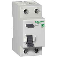 EZ9R84263. Дифференциальный выключатель нагрузки. С защитой от перенапряжения >280V. 63А/2Р/300мА/А