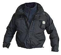 Форма патрульной полиции Украины: Куртка зимняя с подстёжкой (черная и воронье крыло) аналог 5.11