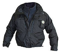 Форма патрульной полиции Украины: Куртка зимняя с подстёжкой (черная и воронье крыло)