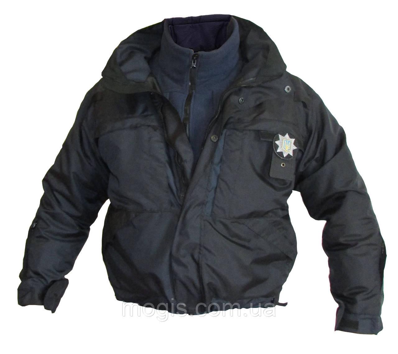 Форма патрульной полиции Украины  Куртка зимняя с подстёжкой (черная и  воронье крыло) аналог 8e362317c45ae