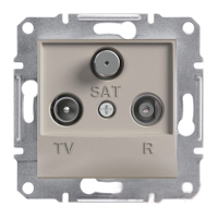 EPH3500269. TV-R-SAT Розетка Проходная. 4dB. Бронза. Asfora plus