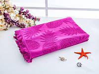 Пляжное жаккардовое полотенце с бахромой
