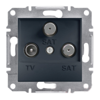 EPH3600171. TV-R-SAT Розетка Одинарная. 1dB. Антрацит. Asfora plus