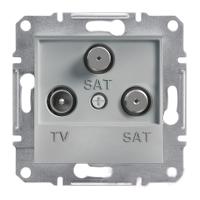 EPH3600161. TV-SAT-SAT Розетка Одинарная. 1dB. Алюминий. Asfora plus