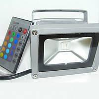 Наружный светодиодный прожектор 10 Вт RGB+пульт 6500K IP65 1LED LEMANSO / LMP10-RGB