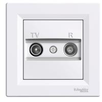 EPH3300321. TV/R Розетка Проходная Белый ASFORA