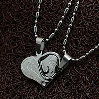 """Кулоны для пары """"Два стальные сердца"""""""