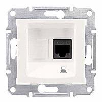SDN4300123. Компьютерная розетка RJ45 UTP кат.5е SE. Слоновая кость. Sedna