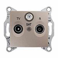 SDN4300468. Адаптер для коннекторов 1М RDM КАТ5Е 6 UTP. Титан. Sedna