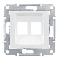 SDN4400621. Адаптер для коннекторов 2МОД AMP MOL КАТ5Е 6UTP. Белый. Sedna