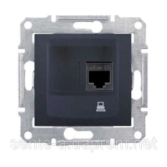SDN4900170. Компьютерная розетка RJ45 STP кат.6. Графит. Sedna