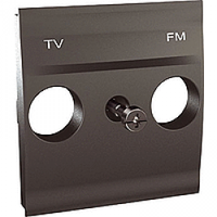 MGU9.440.12. Накладка для TV/FM розетки. 2 модуля. Графит Unica