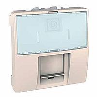 MGU3.411.25. Розетка компьютерная. RJ45 (Kat 5e) UTP. 2-модульная Слоновая кость Unica