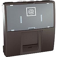 MGU3.413.12. Розетка компьютерная. RJ45 (Kat 5e) FTP. 2-модульная Графит Unica