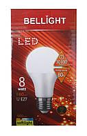 Лампа светодиодная Bellight LED A70 8W E27 3000K (пластиковый корпус)