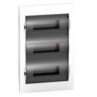 EZ9E312S2F. Щит пластиковый врезной. Дымчатая дверь. 3РЯД/36М+2КК