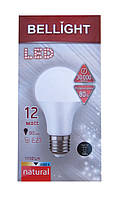 Лампа светодиодная Bellight LED A60 E27 12W 4000K (пластиковый корпус)