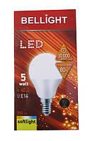 Лампа светодиодная Bellight LED G45 5W E14 3000K (шарик) (пластиковый корпус)