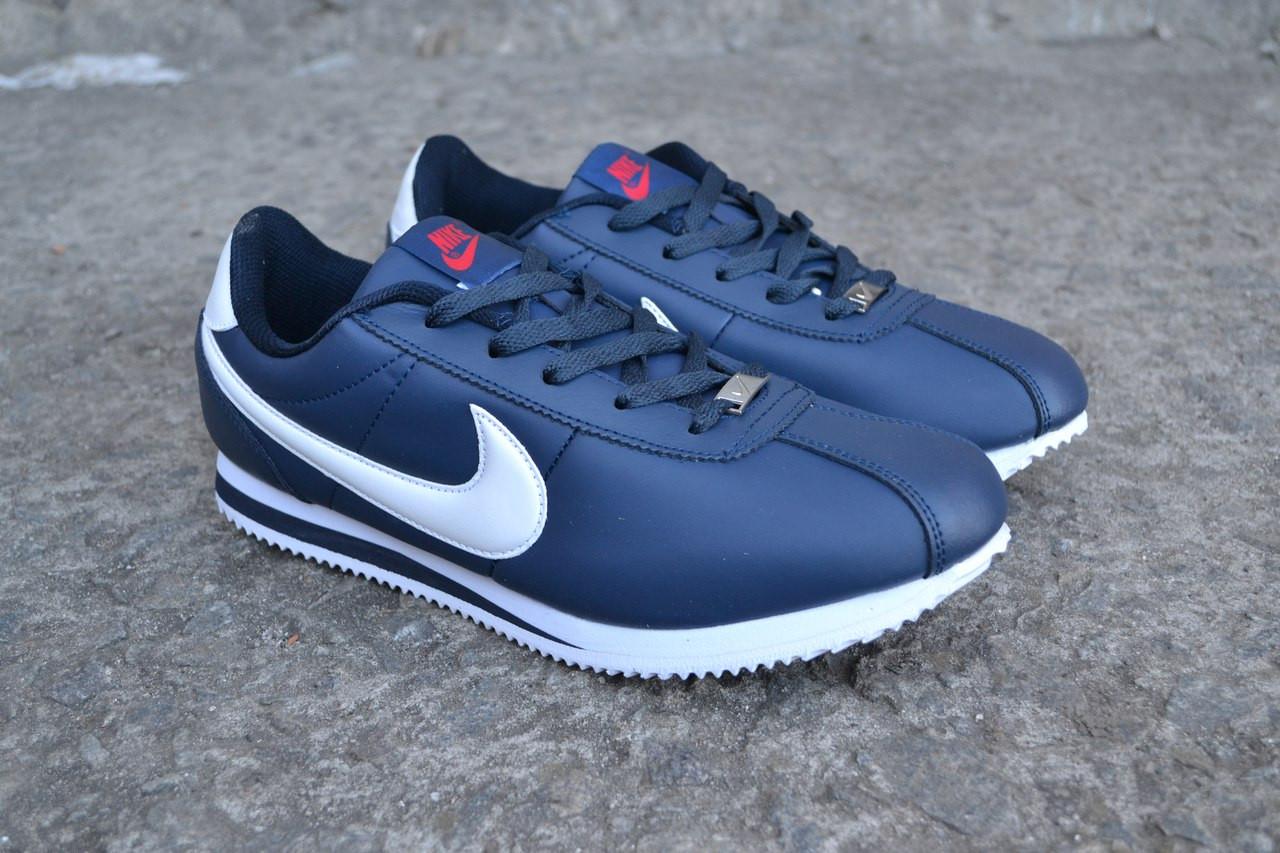 8f2048b3 Модные кроссовки NIke Cortez синие кожаные 41,43,46. - Интернет-магазин