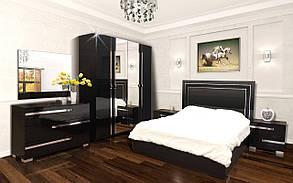 Кровать 2-сп с подъемным механизмом Экстаза Черный лак (Світ Меблів TM), фото 3