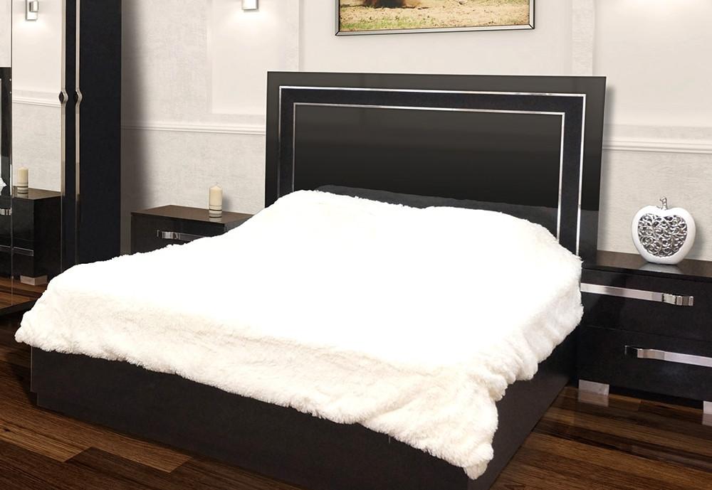 Кровать 2-сп с подъемным механизмом Экстаза Черный лак (Світ Меблів TM)