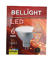 Лампа светодиодная Bellight LED MR16 220V 6W 3000K