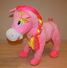 Игрушка лошадь плюшевая большая музыкальная Сонечко