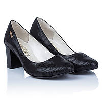 Красивые туфли фото ZanZara (черные, удобные, на устойчивом каблуке, сдержанный дизайн)