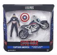 Игрушка Капитан Америка + мотоцикл - Captain America and Motorcycle, Legends, Avengers