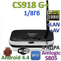 CS918G+ plus 4 ядра Amlogic S805 Android приставка