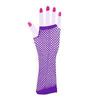 Перчатки Митенки, фиолетовые