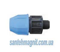 Муфта 25*3/4 Н для соединения полиэтиленовых труб. Наружный водопровод.