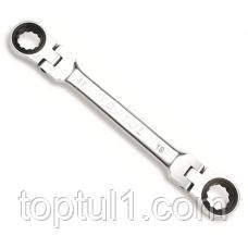 Ключ накидной  TOPTUL AOAE0809  8 х 9 мм с трещоткой и шарниром