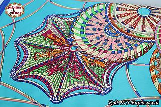 Платок бирюзовый  атласный Лейла, фото 2