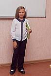 Блузка шкільна з довгим рукавом на дівчинку, фото 2