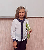 Блузка школьная с длинным рукавом на девочку 32