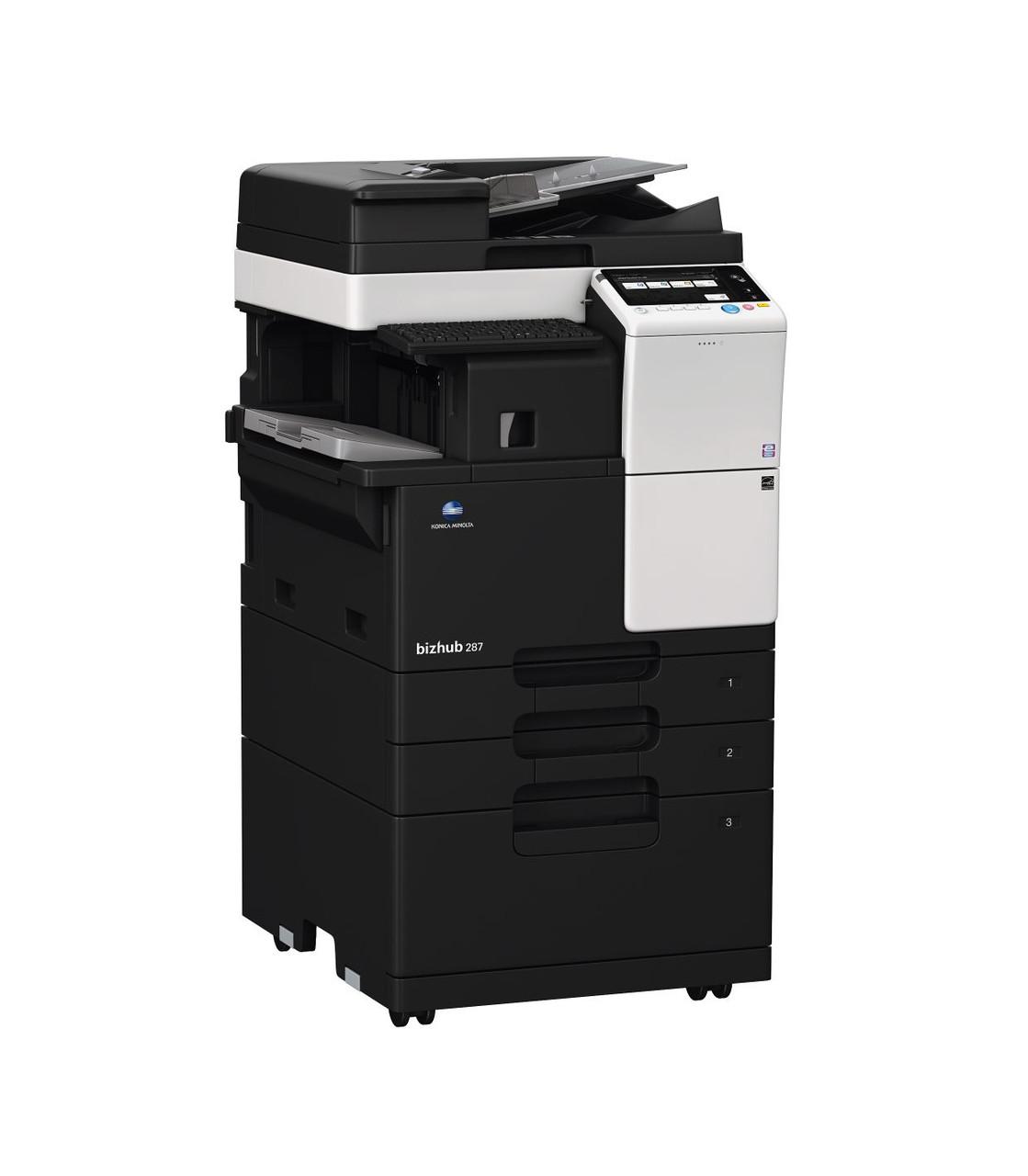 Konica Minolta bizhub 287, монохромное МФУ, А3, 28 стр./мин, копир, принтер, сканер, дуплекс, факс.